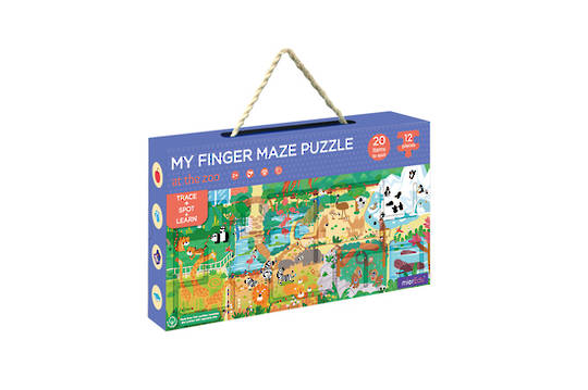 Sensory Finger Maze & Puzzle - At the Zoo