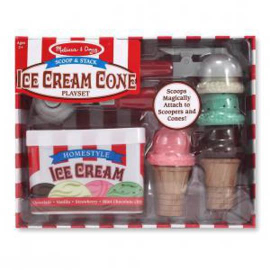 Melissa & Doug Scoop & Stack Ice Cream Cone Set