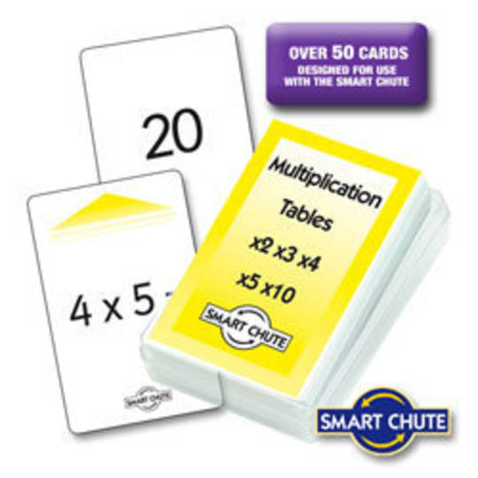 Multiplication Facts Chute Cards