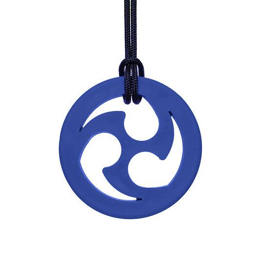 Ninja Star Chewable Jewelry Dark Blue (Standard)