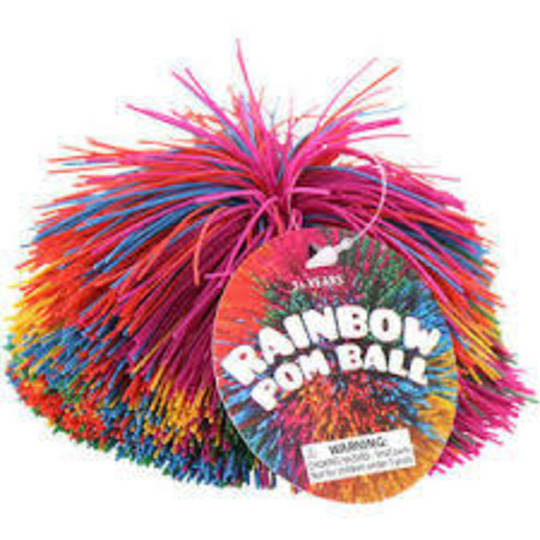 Rainbow Pom Pom Balls
