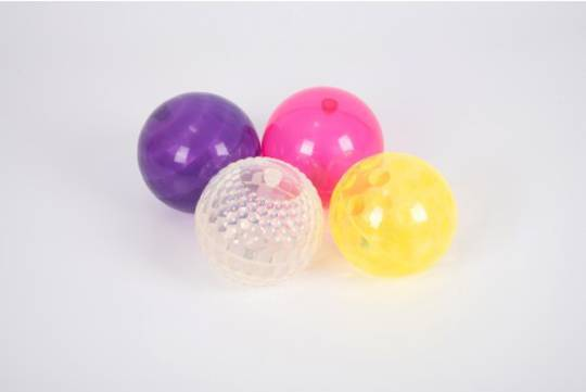 Sensory Flashing Balls (Textured) - Pk4