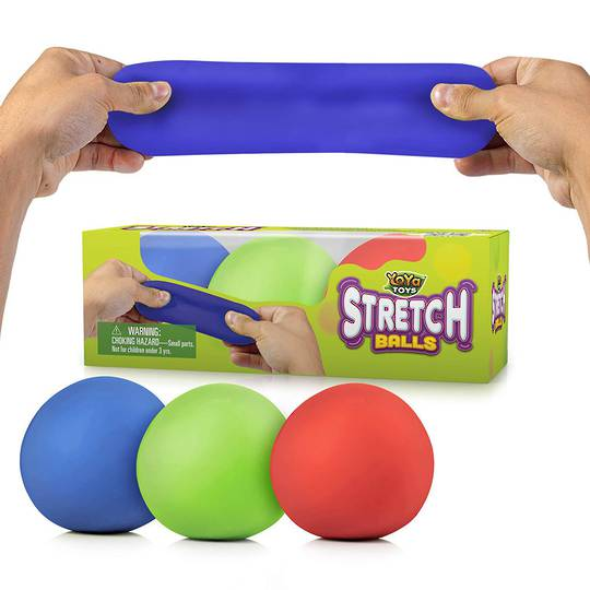 YoYa Toys Pull, Stretch & Squeeze Stress Balls 3 Pack