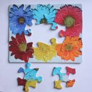 12 Piece Flower Puzzle