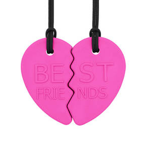 ARK's Best Friends Split Heart Chewelry Set (Hot Pink - Medium)