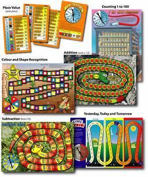 6 Maths Board Games - Basic