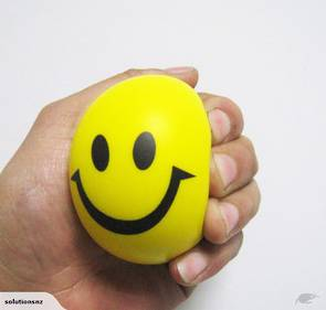63mm Smile Squeeze Ball (Yellow)