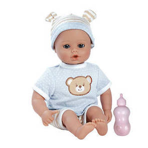 PlayTime Baby Beary Blue Doll  33cm weighted doll