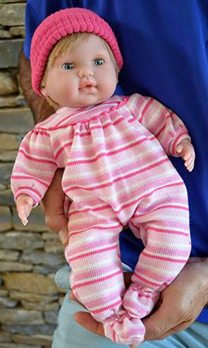 """Baby Girl""""Pam"""" with GO to Sleep Eyes - Therapy Doll"""