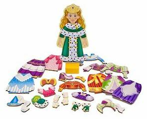 Princess Elise Magnetic Dress Up Doll