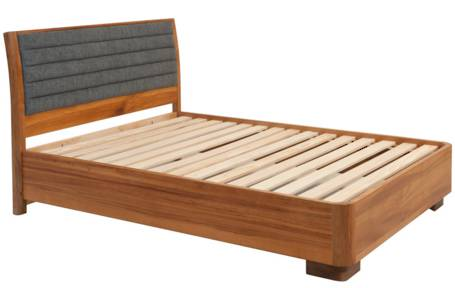 Solaris Queen Bedstead - low foot - Timber