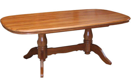 Laccatto Twin Pedestal Fixed Dining Table - 2200L x 1160W