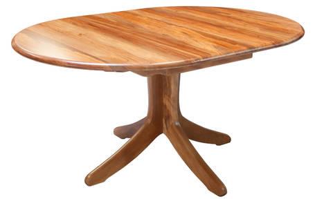 Verso Round Single Pedestal Extension Table 1200L x 1200W Extn 1700L