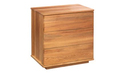 Solaris 3 drawer bedside cabinet