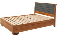 Solaris Queen Bedstead - low foot - Timber