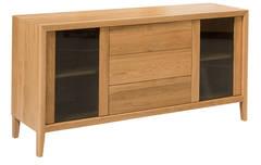 Attra Buffet 1600 3 Drws/2 Glass Doors - Legs