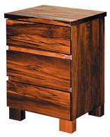 Riverwood 3 Drawer Bedside