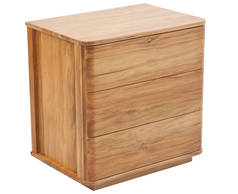 Solaris 3 drawer bedside cabinet