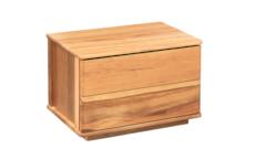 Solaris 2 drawer bedside cabinet