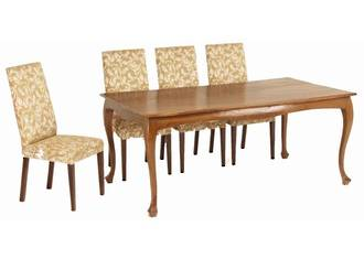 French Cabriole Leg Dining Table