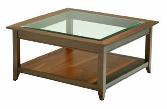 Shaker Coffee Table Glass Top