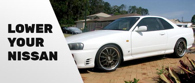Nissan lowered car