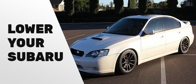 Subaru lowered car