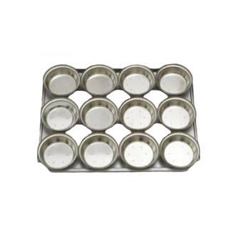 Palletized Pie Tins, (12) Round Very Deep 113x42mm, Tray size 460x360mm
