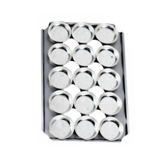 Palletized Pie Tins, (15) Round 113x31.5mm, Tray size 600x405mm