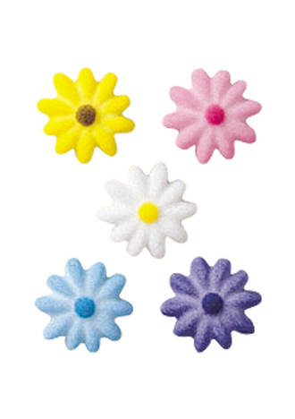 Daisies Assorted Dec-ons  Sugar 19mm (Box 675)