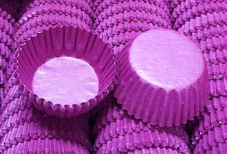 Glassine Petite Deep Pink Paper Cups 28x15mm  (1,000)