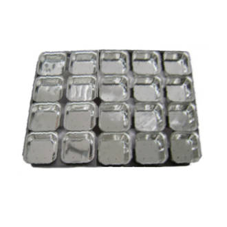 Palletized Pie Tins, (20) Square 108x27mm, Tray size 600x460mm