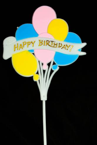 Happy Birthday with Balloons Pic 175mm (6)