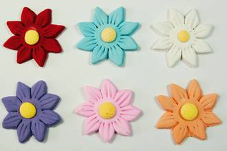 Icing Assorted Daisy,35mm(Red, Lavender, Pink, White) Box of 120