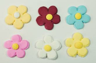 Icing Daisy 23mm, Assorted Colours (Box of 360)