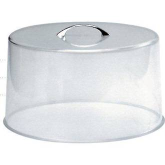Round Lid Clear Acrylic with Chrome Handle diameter 26cm, height 13cm