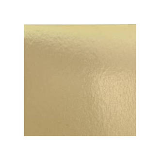 """250mm or 10"""" Square 2mm Cake Card Gold"""
