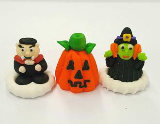 Halloween (3D Assorted Icings - Packet of 6)