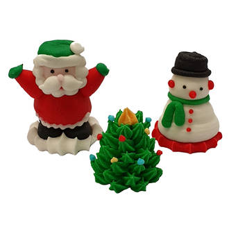 Christmas (3D Assorted Icing - Box of 32)