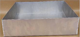 Aluminium Baking tray, Plain 4 sided - 740x406x50mm (29x16)