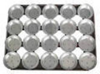 Palletized Pie Tins, (20) Round 113x29mm, Tray size 600x460mm