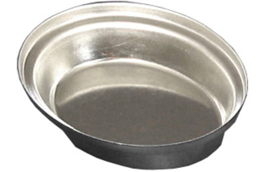 Palletized Savoury Pie Tins, (60) Oval 80x62x20mm, Tray size 720x460mm
