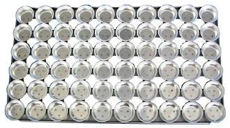 Palletized Savoury Pie Tins, (60) Deep 68x23mm, Tray size 720x415mm