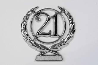 65mm 21 Numeral Wreath, Silver