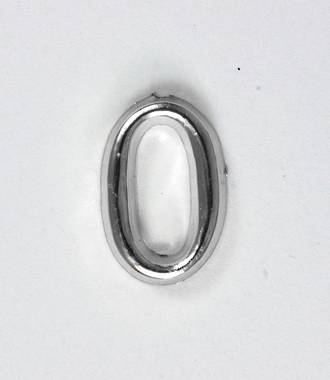 15mm Numeral 0, Silver