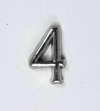 15mm Numeral 4, Silver