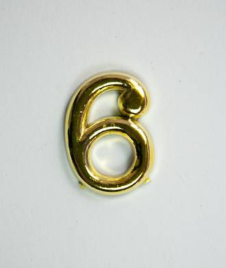 15mm Numeral 6, Gold