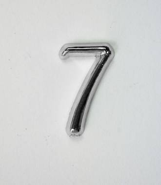15mm Numeral 7, Silver