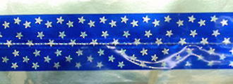 Cake Band Star Royal Blue/Silver 63mm(1m)