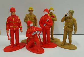 Fireman Figurines - 70mm (6) - SOLD OUT